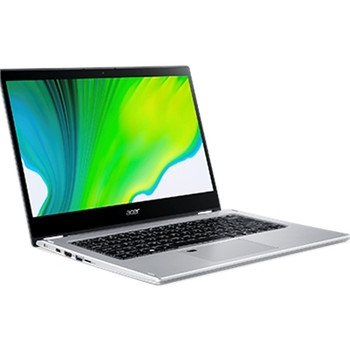 """Acer Spin 3 SP314-54N SP314-54N-53BF 14"""" Touchscreen 2 in 1 Notebook - Full HD - 1920 x 1080 - Intel Core i5 (10th Gen) i5-1035G1 Quad-core (4 Core) 1 GHz - 8 GB RAM - 256 GB SSD - Pure Silver"""