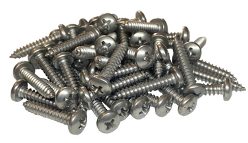 """10-16 X 1"""" Mil-Spec Phillips Pan Type AB Self Tapping Screw 410 Stainless Steel - 50 Pack"""