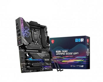MSI MPG Z590 GAMING EDGE WIFI Desktop Motherboard - Intel Chipset - Socket LGA-1200 - Intel Optane Memory Ready - ATX
