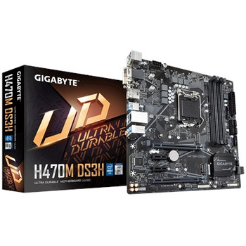 Gigabyte Ultra Durable H470M DS3H Desktop Motherboard - Intel Chipset - Socket LGA-1200 - Intel Optane Memory Ready - Micro ATX