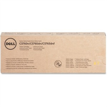 Dell Toner Cartridge - Laser - 9000 Pages - Yellow - 1 Each