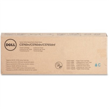 Dell Toner Cartridge - Laser - Extra High Yield - 9000 Pages - Cyan - 1 Each
