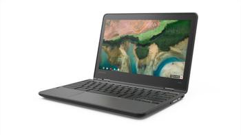 "Lenovo 300e Chromebook 2nd Gen 81MB0066US 11.6"" Touchscreen Rugged 2 in 1 Chromebook - HD - 1366 x 768 - Intel Celeron N4020 Dual-core (2 Core) 1.10 GHz - 4 GB RAM - 32 GB Flash Memory - Black"