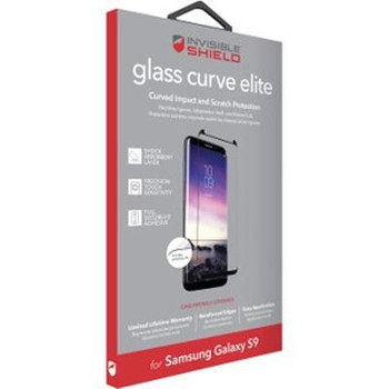 invisibleSHIELD Glass Curve Elite Screen Protector Black, Transparent