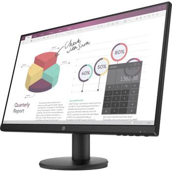 """HP P24v G4 23.8"""" Full HD LED LCD Monitor - 16:9 - Black - 24"""" Class"""
