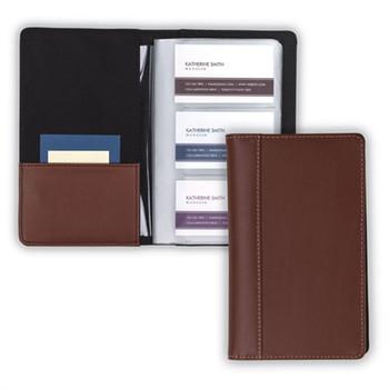 Leather Card File Tan