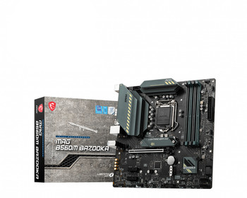MSI MAG B560M BAZOOKA Desktop Motherboard - Intel Chipset - Socket LGA-1200 - Intel Optane Memory Ready - Micro ATX