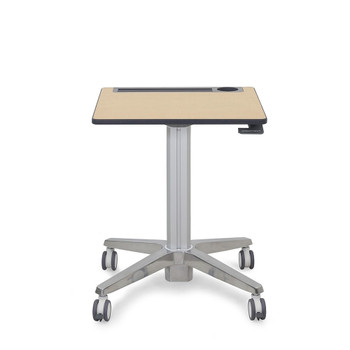 """Ergotron Mobile Desk - Maple Top - 27"""" Table Top Width x 20.50"""" Table Top Depth - Assembly Required"""