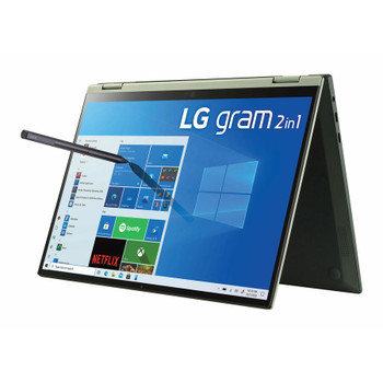 "LG gram 14T90P-K.APG5U1 14"" Touchscreen Rugged 2 in 1 Notebook - WUXGA - 1920 x 1200 - Intel Core i7 11th Gen i7-1165G7 2.80 GHz - 16 GB RAM - 512 GB SSD - Topaz Green"