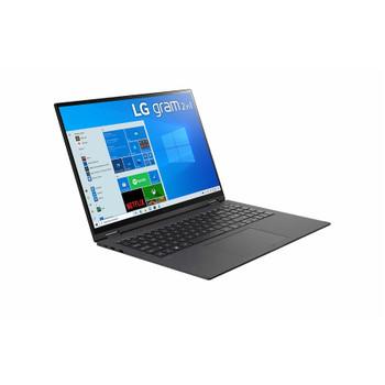 "LG gram 16T90P-K.APB7U1 16"" Touchscreen Rugged 2 in 1 Notebook - WQXGA - 2560 x 1600 - Intel Core i7 11th Gen i7-1165G7 2.80 GHz - 16 GB RAM - 1 TB SSD - Obsidian Black"