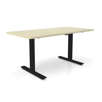 """Height Adjustable 30""""x 48"""" Ergonomic Business Desk - Aged Porcelain"""