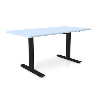 "Height Adjustable 30""x 48"" Ergonomic Business Desk - Folkstone Grey"