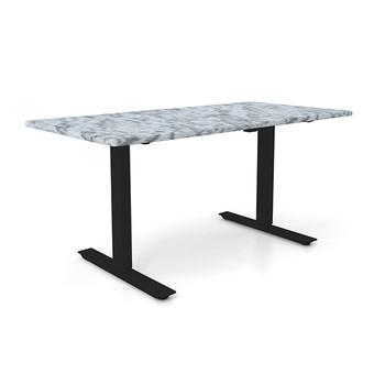 "Height Adjustable 30""x 48"" Ergonomic Business Desk - Ivory Biscayne"