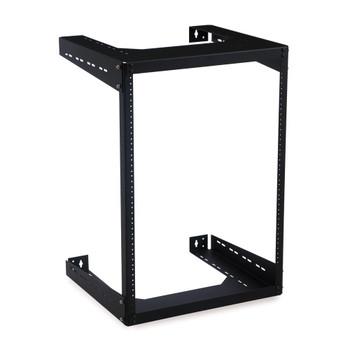 "15U 18"" Deep Open Frame Wall Rack USA Made"
