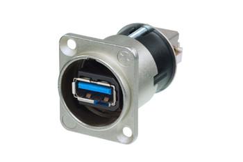 Neutrik USB Adaptor, NAUSB3 USB Type A Receptacle, USB Type B Receptacle, USB 3.0