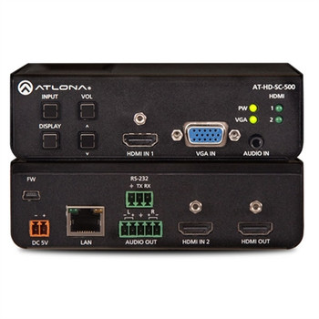 Atlona Three-Input HD Video Scaler for HDMI and VGA Signals