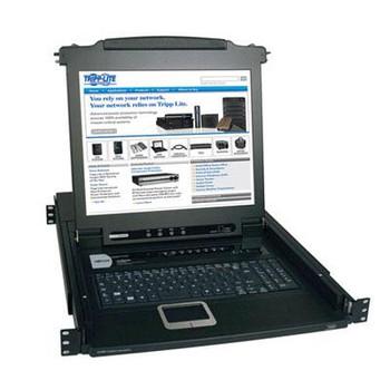 "Tripp Lite 8-Port Rack Console KVM Switch w/ 17"" LCD PS/2 1U"