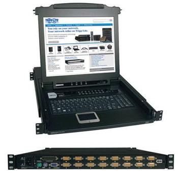 "Tripp Lite 16-Port Rack Console KVM Switch w/ 17"" LCD PS/2 1U"