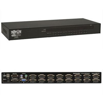Tripp Lite 16-Port Rackmount USB / PS2 KVM Switch w/ On-Screen Display 1U