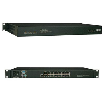 Tripp Lite 16-Port Cat5 IP KVM Switch Compact 1+1 User Rackmount TAA