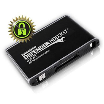 Defender HDD300 FIPS 140-2 Certified, Encrypted Secure Hard Drive, 4TB