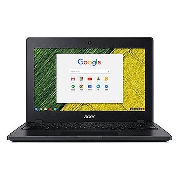"Acer C771T-C1WS 11.6"" Touchscreen Chromebook - 1366 x 768 - Celeron 3855U - 4 GB RAM - 32 GB Flash Memory"