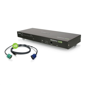 IOGEAR 8-Port USB PS/2 Combo VGA KVM Switch with USB KVM Cables