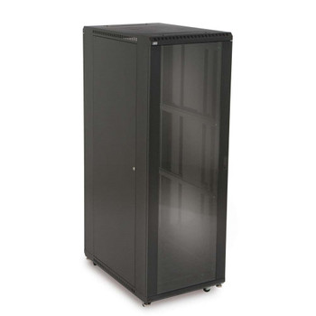 "37U LINIER Server Cabinet - Glass/Vented Doors - 36"" Depth Includes one locking tempered glass door"