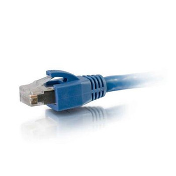 C2G 75ft Cat6 Snagless Solid Shielded Ethernet Network Patch Cable - Blue