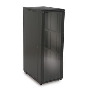 """37U LINIER Server Cabinet - Glass & Solid Doors - 36"""" Depth Includes one Locking Tempered Glass Door"""