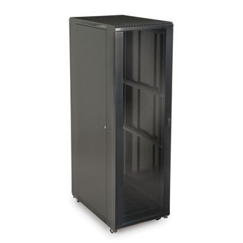 """42U LINIER Server Cabinet - Glass & Solid Doors - 36"""" Depth Includes Locking Tempered Glass Door"""
