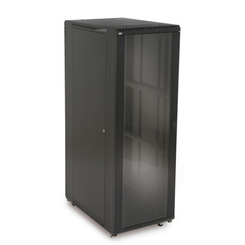 "37U LINIER Server Cabinet - Glass Doors 36"" Depth Includes Locking Tempered Glass Doors"