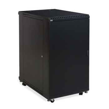 "22U LINIER Server Cabinet - Solid & Convex Doors 36"" Depth Includes Locking Convex Door"