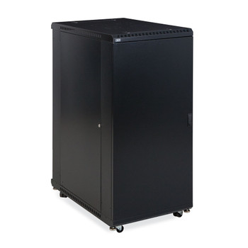"27U LINIER Server Cabinet - Solid & Convex Doors 36"" Depth Includes Locking Solid Door"