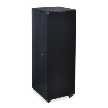 "Kendall Howard 37U LINIER Server Cabinet - Solid/Convex Doors - 24"" Depth"
