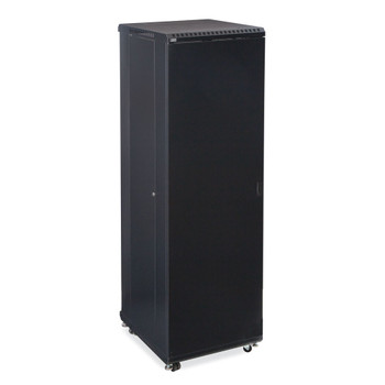"Kendall Howard 42U LINIER Server Cabinet - Solid/Convex Doors - 24"" Depth"