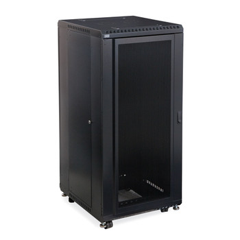 "Kendall Howard 27U LINIER Server Cabinet - Convex Doors - 24"" Depth"