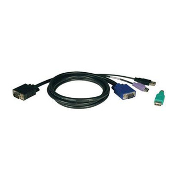 Tripp Lite 10ft USB / PS2 Cable Kit for KVM Switches B040 / B042 Series KVMs
