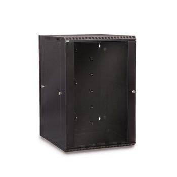 18U LINIER® Swing-Out Wall Mount Cabinet - Glass Door