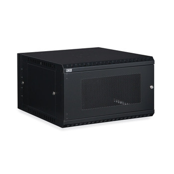 6U LINIER Swing-Out Wall Mount Cabinet Vented Door with a 150 lb. weight capacity