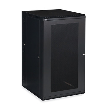 22U LINIER Swing-Out Wall Mount Cabinet Vented Door Includes one locking vented door