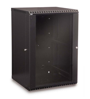 Kendall Howard 18U LINIER Fixed Wall Mount Cabinet - Glass Door