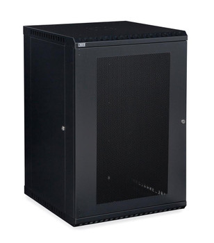 Kendall Howard 18U LINIER Fixed Wall Mount Cabinet - Vented Door - 18 gauge steel & USA Made