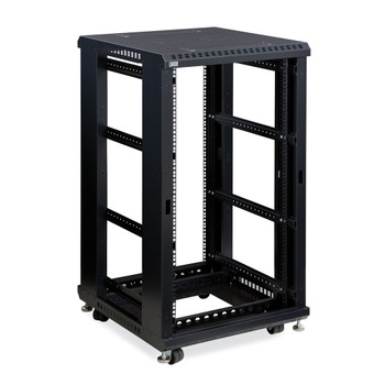 "Kendall Howard 22U LINIER Open Frame Server Rack - No Doors or Side Panels - 24"" Depth"