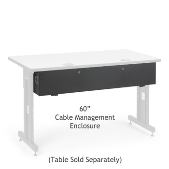 "Kendall Howard 60"" Training Table Cable Management Enclosure"