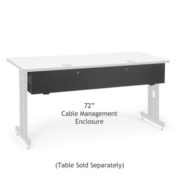 "Kendall Howard 72"" Training Table Cable Management Enclosure"