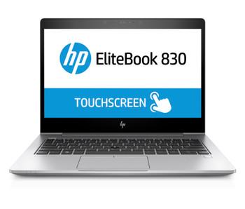 HP EliteBook 830 G5 W10P-64 i5-8250U 256GB SSD 16GB (2x8GB) DDR4 2400 13.3 FHD Touchscreen NIC WLAN BT FPR Cam No-NFC