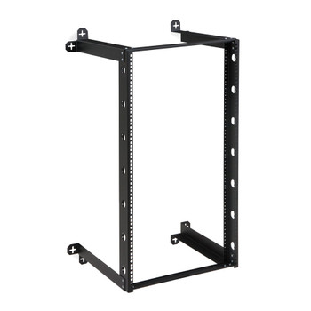"21U V-Line Wall Mount Rack 18"" Usable depth Black Powder Coated Finish"