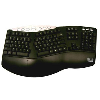 Adesso PCK-208B Tru-Form Media Contoured Ergonomic Keyboard