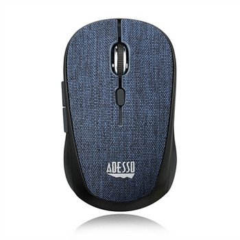 Adesso iMouse S80L - Wireless Fabric Optical Mini Mouse (Blue)